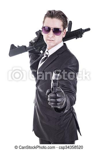 秘密, テロリスト, ou, エージェント - csp34358520