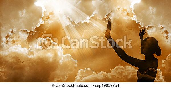 称賛すること, 神 - csp19059754