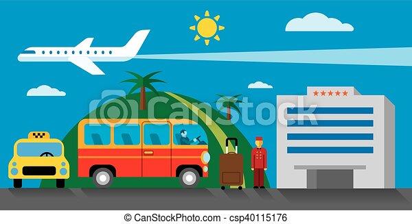 移動, ホテル, リゾート - csp40115176