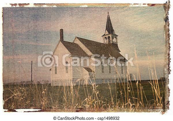 移動, church., polaroid - csp1498932