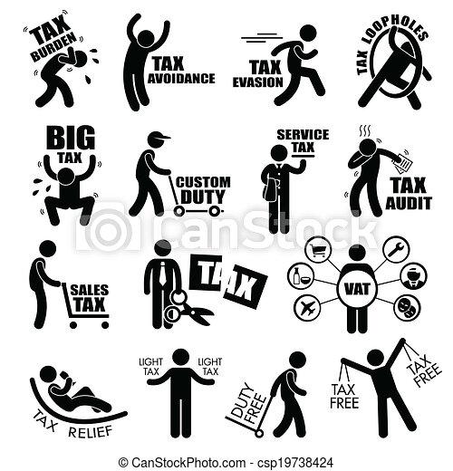 税, taxpayer, clipart - csp19738424