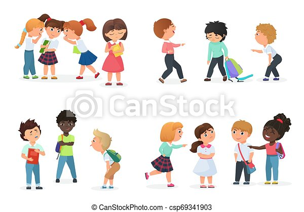 積極的に, 子供, Humiliate, School., 男の子, 脅かしなさい, からかい屋, 脅威, 女の子, ∥あるいは∥, 多人種である, おこらせなさい, いじめ, うわさ話, 力,