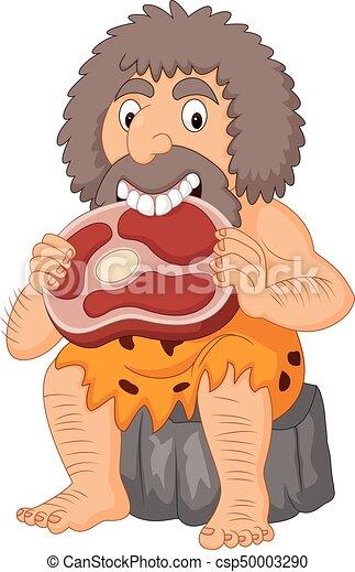 穴居人 食べること 漫画 肉 食べること 肉 穴居人 イラスト