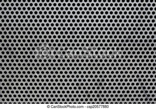 穴, 金属, ラウンド, 背景 - csp20577880