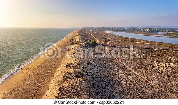 空気の 写真, close-up., lago, algarve, de, portugal., quinta, 砂丘 - csp82068224