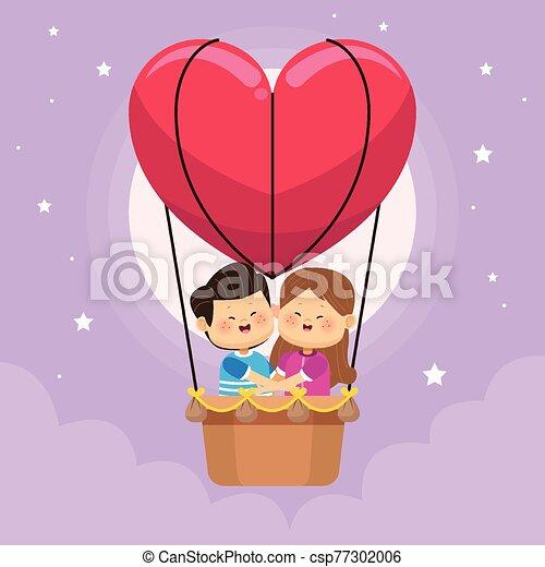 空気, 子供, わずかしか, 暑い, balloon, 恋人, かわいい - csp77302006
