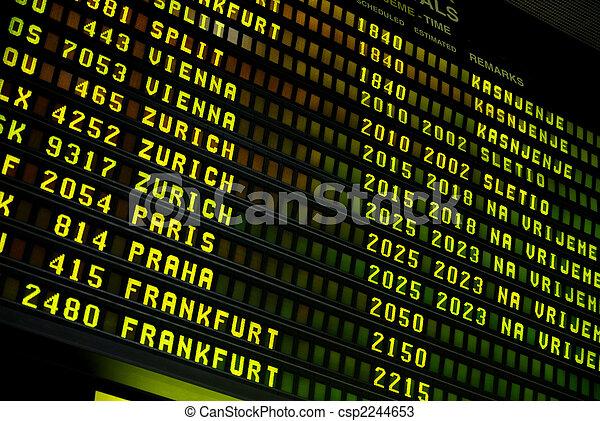 空港, ディスプレイ - csp2244653