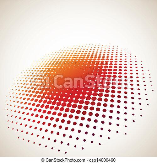 空間, halftone, 背景, 環繞, 模仿, 3d - csp14000460