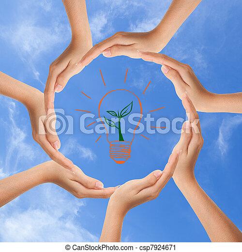 空间, 多种族, 人的手, 做, 环绕, 复制 - csp7924671