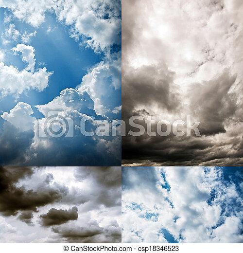 空, コレクション, 曇り - csp18346523