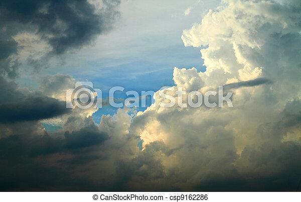 空, 劇的, 雲, 背景 - csp9162286