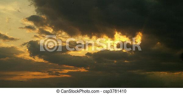 空, 夜, -, コレクション, 白熱 - csp3781410