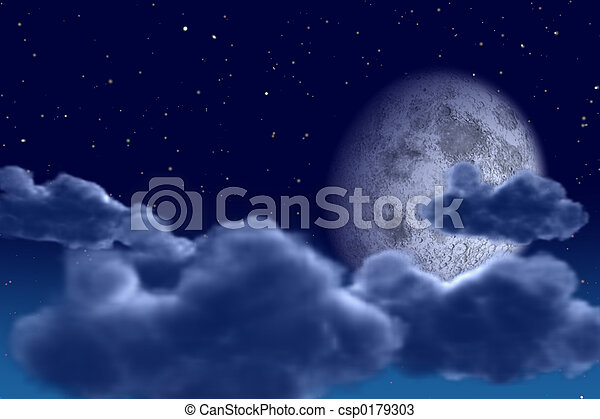 空, 夜 - csp0179303