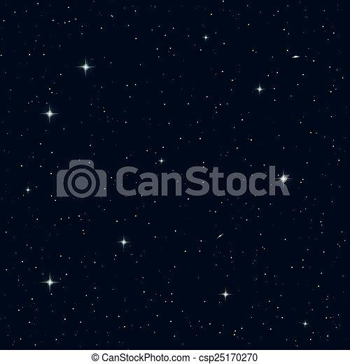 空, seamless, 夜 - csp25170270