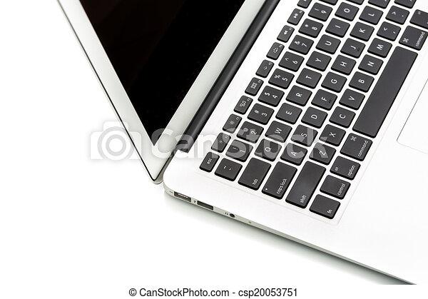 笔记本电脑, 现代, 计算机, 白色素材插图