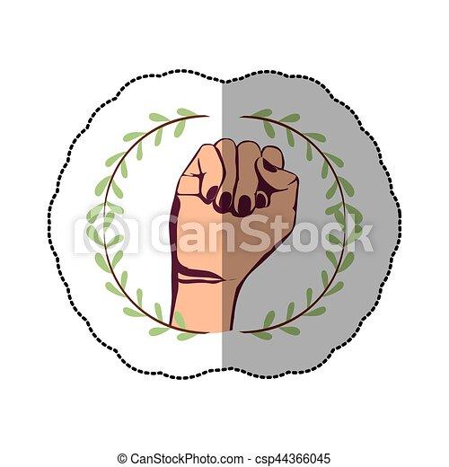 符號, 握緊拳頭 - csp44366045