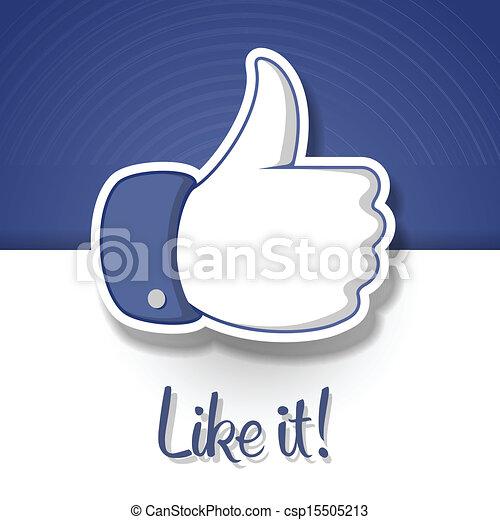 符號, like/thumbs, 向上, 圖象 - csp15505213