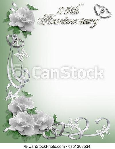 第25, ボーダー, 記念日, 招待 - csp1383534