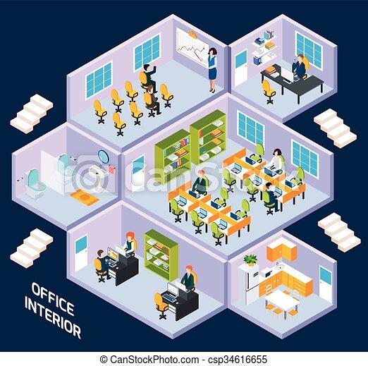 等大, オフィスの内部 - csp34616655