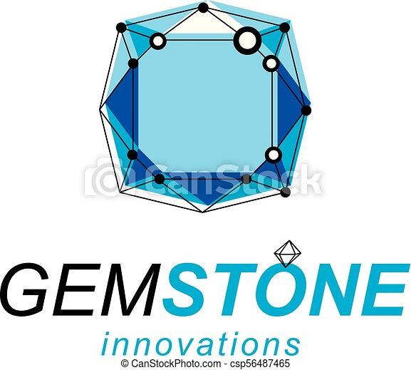 等大, illustration., logotype., 技術, 抽象的, poly, ベクトル, 低い, 新しい, 建設 - csp56487465