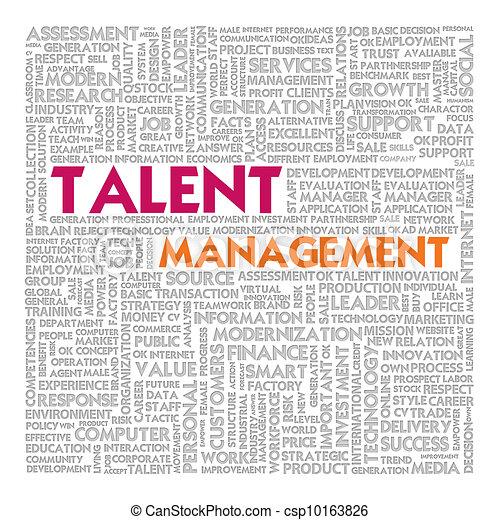 管理, 単語, ビジネス 概念, 才能, 雲 - csp10163826