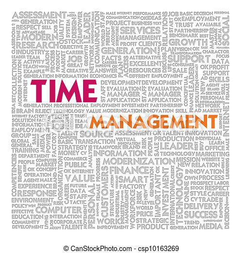 管理, 単語, 金融, ビジネス 概念, 時間, 雲 - csp10163269