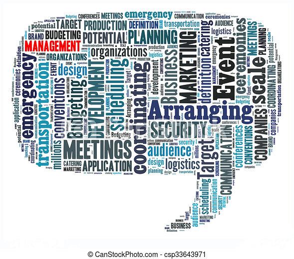 管理, 単語, 雲 - csp33643971