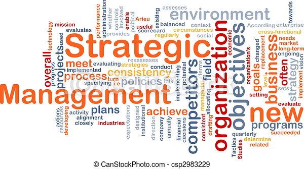 管理, 単語, 雲, 戦略上である - csp2983229