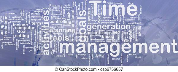 管理, 単語, 雲, 時間 - csp6756657