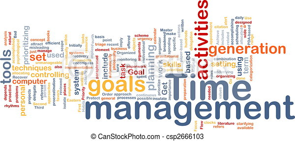 管理, 単語, 雲, 時間 - csp2666103