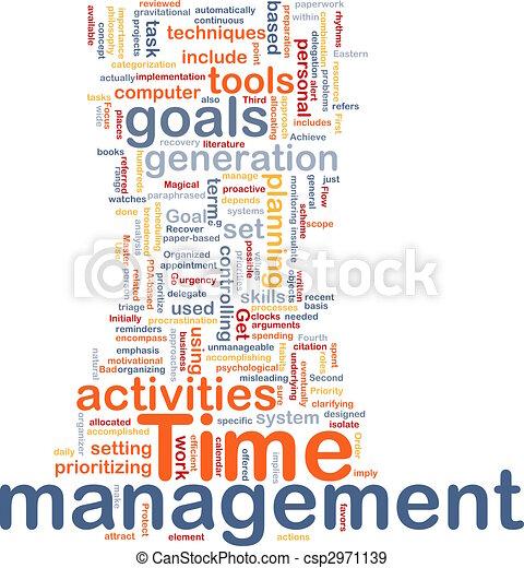 管理, 単語, 雲, 時間 - csp2971139