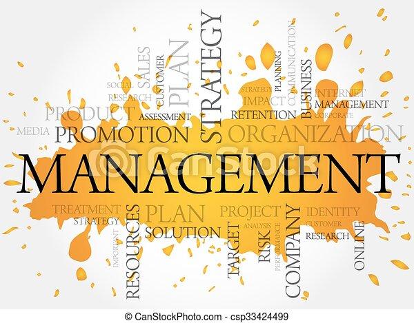 管理, 単語, 雲 - csp33424499