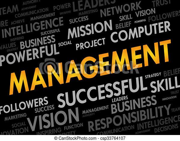 管理, 単語, 雲 - csp33764107