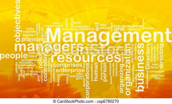 管理, 単語, 雲 - csp6780270