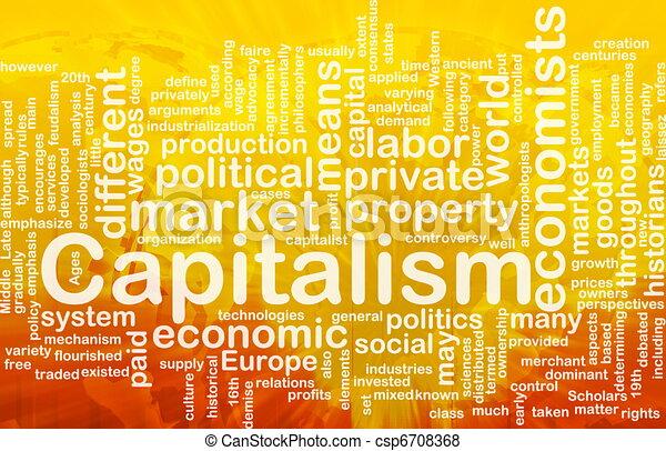 管理, 単語, 雲, 資本主義 - csp6708368