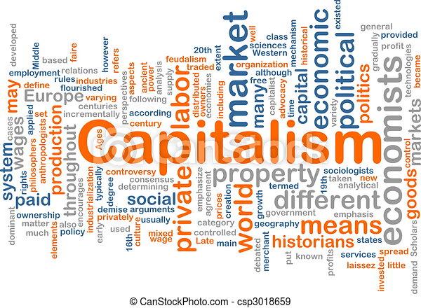 管理, 単語, 雲, 資本主義 - csp3018659
