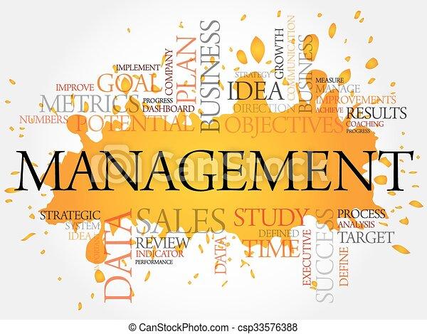 管理, 単語, 雲 - csp33576388