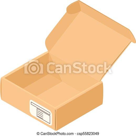 箱, アイコン, 等大, 貯蔵, スタイル - csp55823049