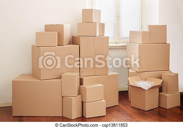 箱, アパート, ボール紙 - csp13811853