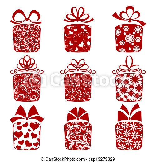 箱, コレクション, 贈り物 - csp13273329