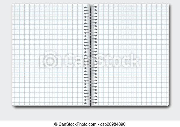 箱, ノート, 開いた - csp20984890