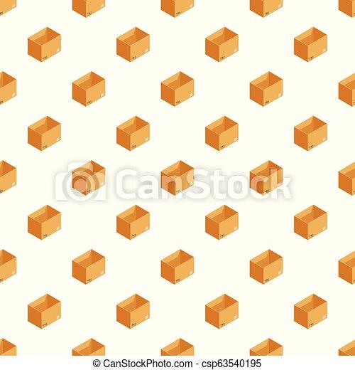 箱, パターン, ベクトル, 貯蔵, seamless - csp63540195