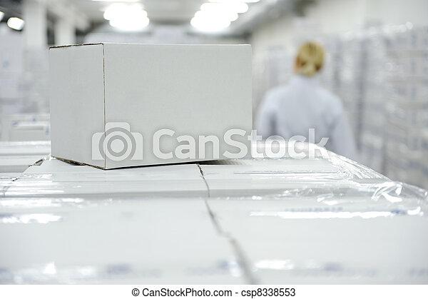 箱, パッケージ, 白, あなたの, 倉庫, 準備ができた, ロゴ, メッセージ, ∥あるいは∥ - csp8338553