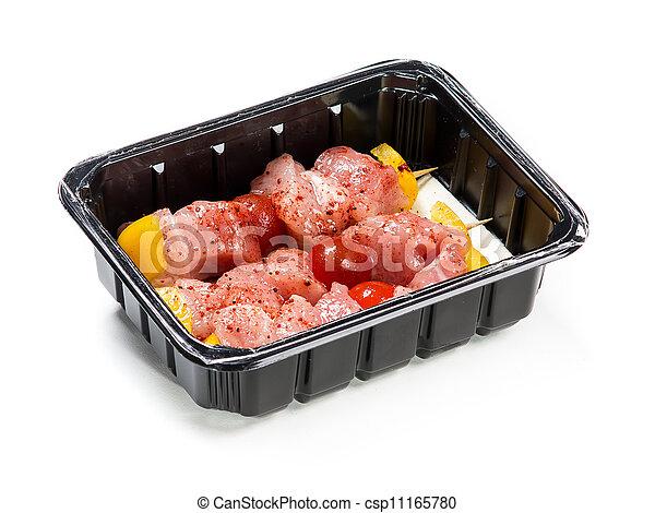 箱, プロダクト, 肉, 肉, 料理, パックされた - csp11165780