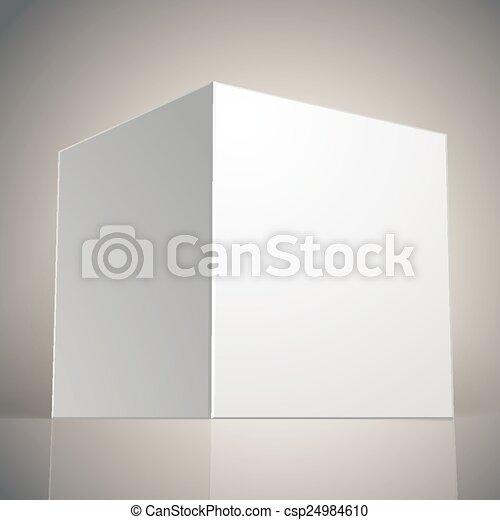 箱, ベクトル, あなたの, テンプレート, ブランク - csp24984610