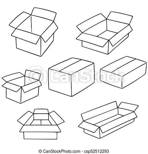 箱, ベクトル, セット - csp52512293