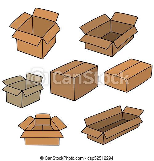 箱, ベクトル, セット - csp52512294