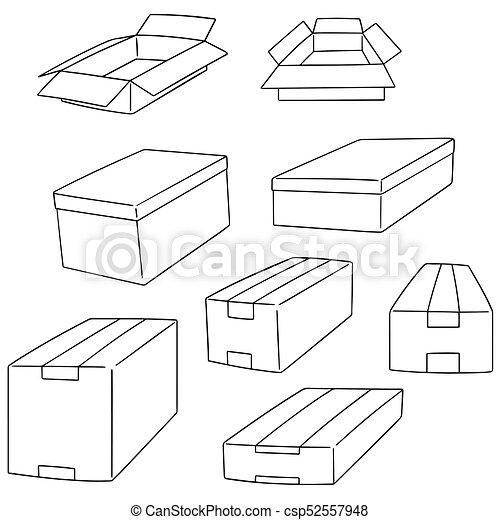 箱, ベクトル, セット - csp52557948