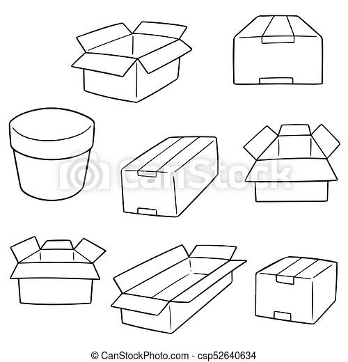 箱, ベクトル, セット - csp52640634