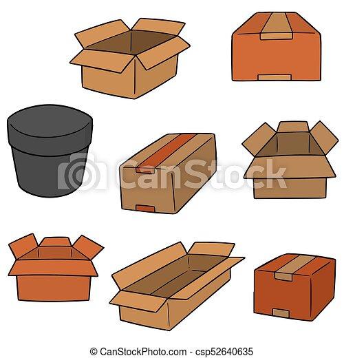箱, ベクトル, セット - csp52640635